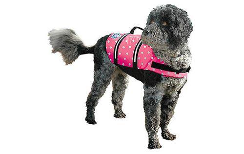 Pink Polka Dot - Fido Dog Life Jacket - Dog Life Jackets - Dog life jackets for dogs of all sizes.