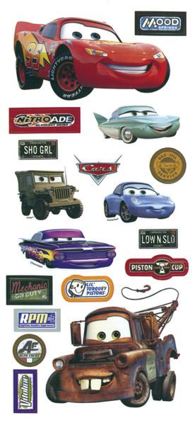 Disney Cars Stickers/Borders Packaged | Pixar Cars movie stickers!