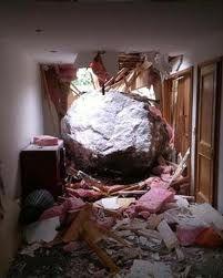 christchurch earthquake - no one home, so lucky