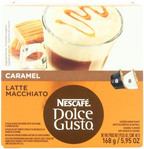 Nescafe Dolce Gusto for Nescafe Dolce Gusto Brewers, Caramel Latte Macchiato, 16 Count (Pack of 3) - http://hotcoffeepods.com/nescafe-dolce-gusto-for-nescafe-dolce-gusto-brewers-caramel-latte-macchiato-16-count-pack-of-3/