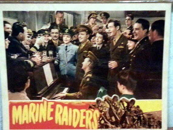 Lobby Card from the 1944 film Marine Raiders by DaytonaVintage