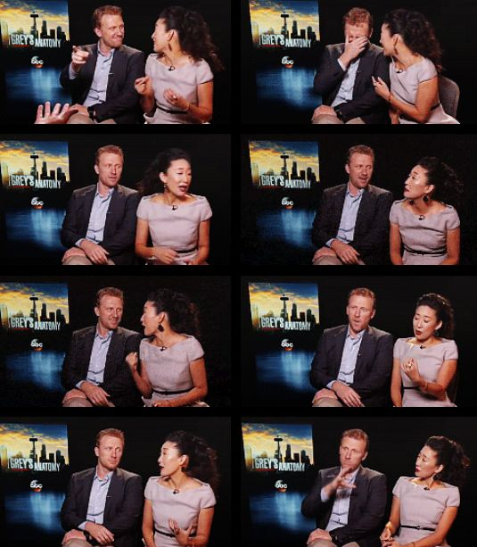 kevin mckidd and sandra oh in their recent interview     Owens Hunting    Kevin Mckidd And Sandra Oh