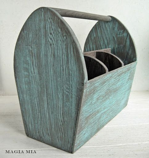 Magia Mia: Weathered Wood And Tiffany Blue Chalk Paint