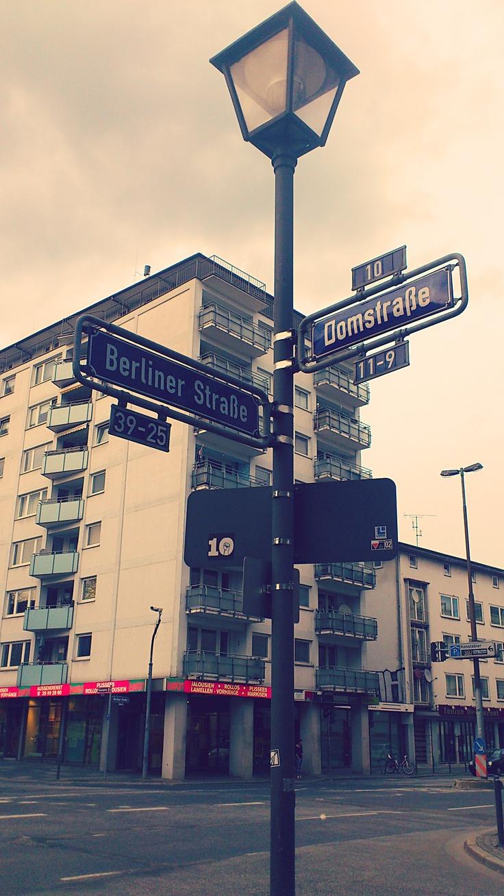 De straten van Frankfurt