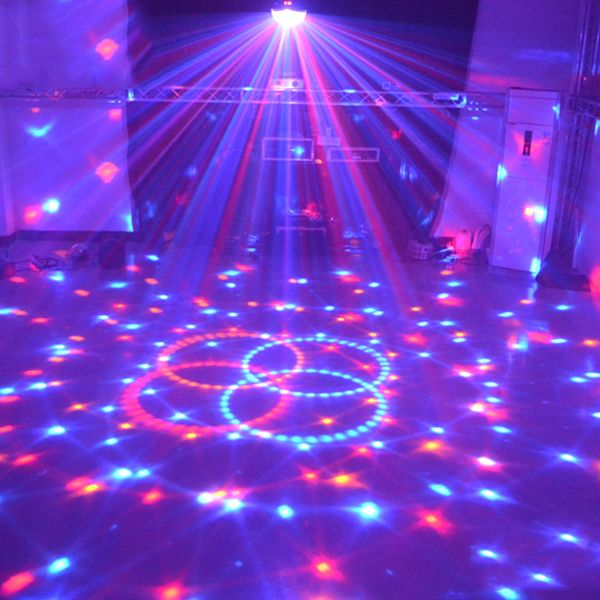 9 Colors 27W Crystal Magic Ball Led Stage Lamp 21 Modes Disco Laser Party Lights Sound Control Christmas