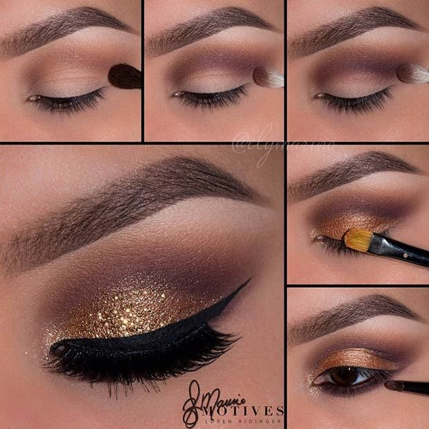 Gold & Brown Smokey Eye Tutorial