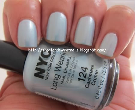 "#NYCNewYorkColor  Long Wearing Nail Polish in ""Cashmere Creme"" I love this polish!!! @Influenster @NYC New York Color"