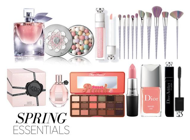 """Lovely Spring"" by real-21c on Polyvore featuring beauty, Guerlain, Too Faced Cosmetics, Viktor & Rolf, Lancôme, MAC Cosmetics and Christian Dior"