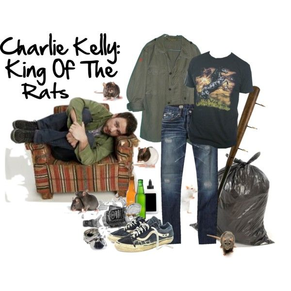 """Charlie Kelly: King Of The Rats"" by paintedsouldesign on Polyvore."