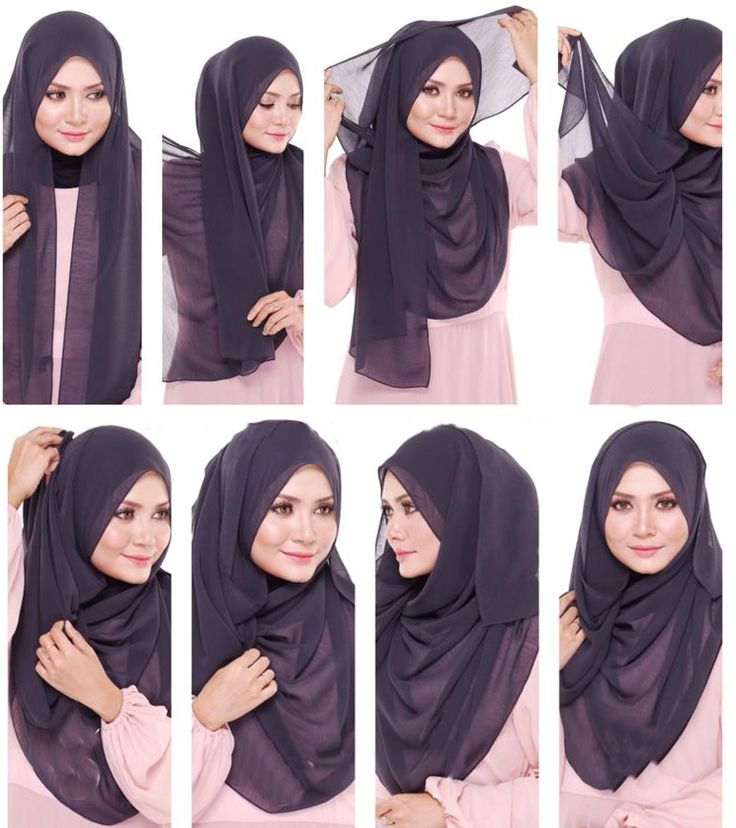Hijab. DIY. Step by step. Simple