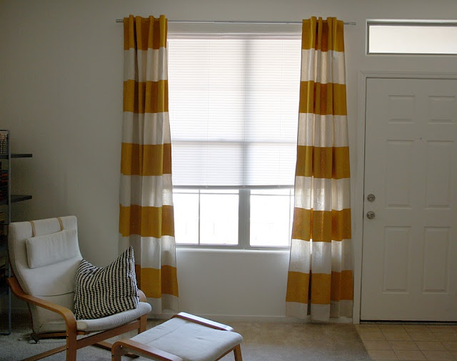 Sparkle Power!: Painted Canvas Curtains DIY