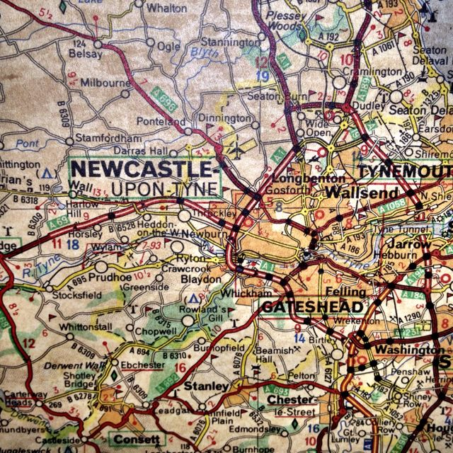 Old map of northern England - Newcastle Upon Tyne------CAN'T WAIT!!!!
