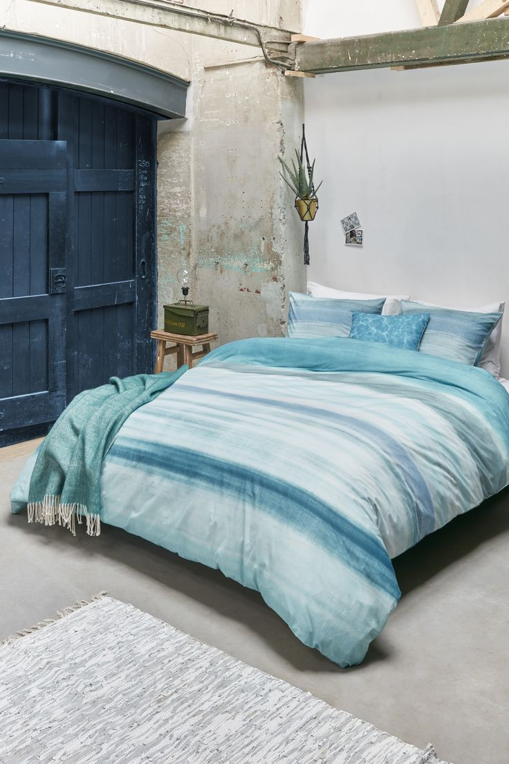Dekbedovertrek Beddinghouse Gibson Aqua blue   NIEUWE COLLECTIE   Duvet cover Beddinghouse