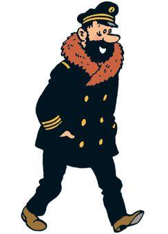 The Shooting Star • Captain Haddock • old sea dog • Tintin, Herge j'aime