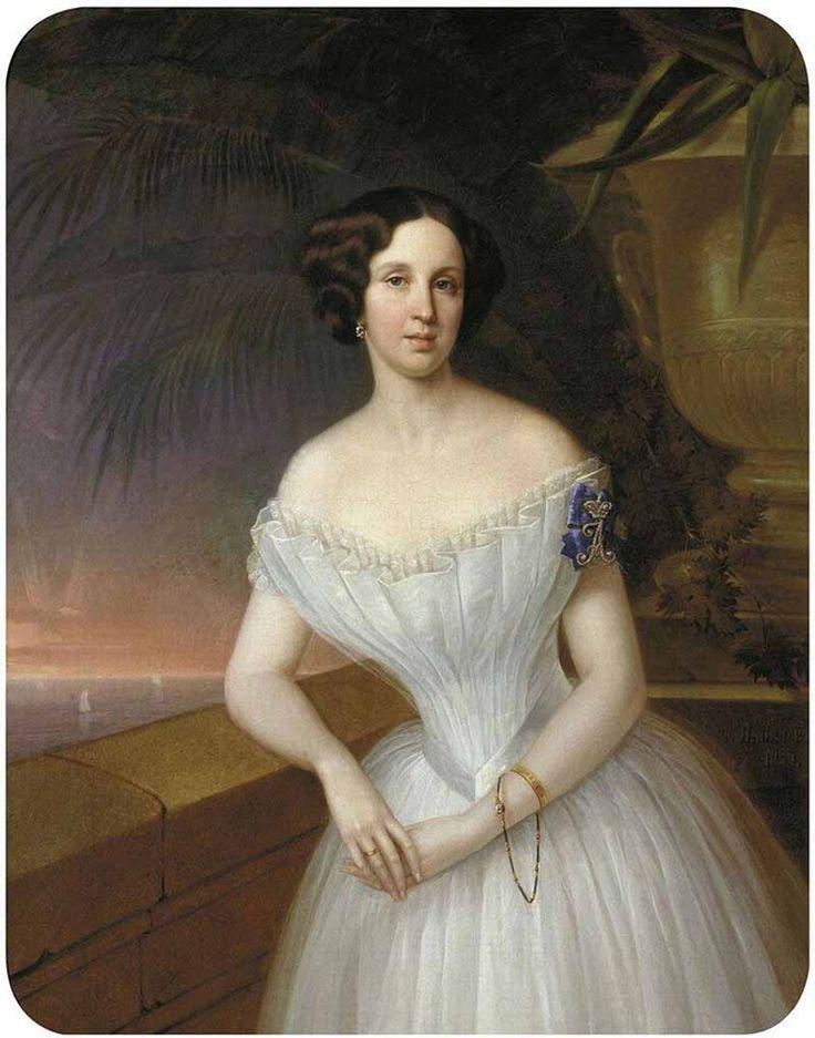 """Яковлев Гавриил Иванович (1819-1862) """"Парадный женский портрет"""""""