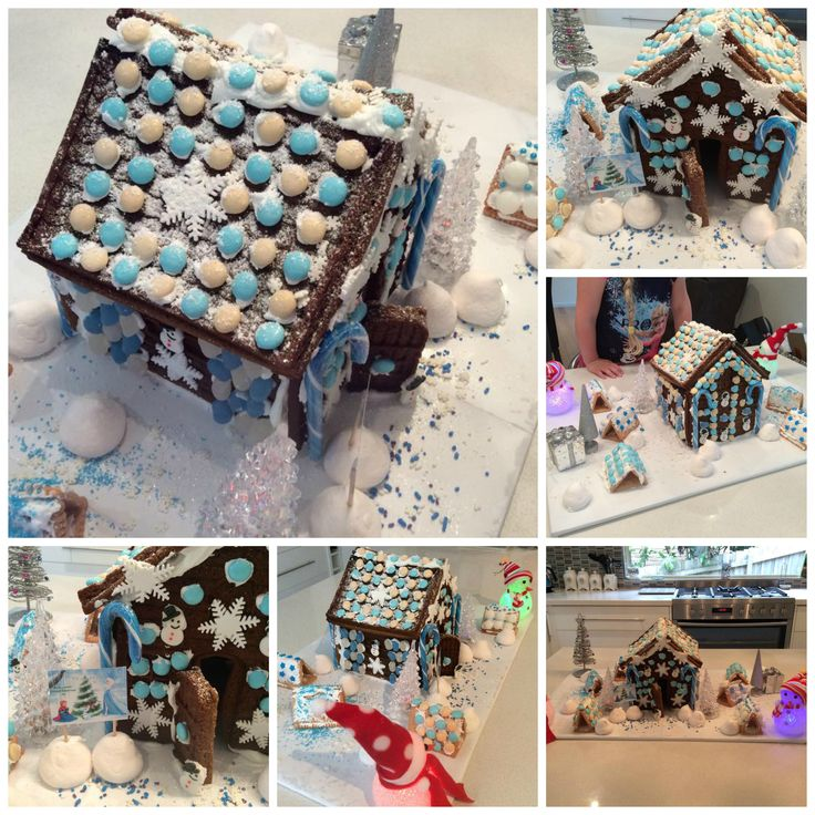 Our 2014 gingerbread house - Frozen inspired (of course)