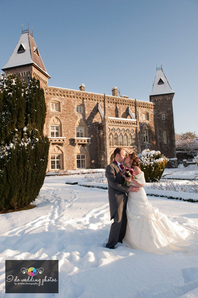 """Lots of snow winter wedding at Newton House llandeilo.  by Andrew """"Jenkins photography"""""""