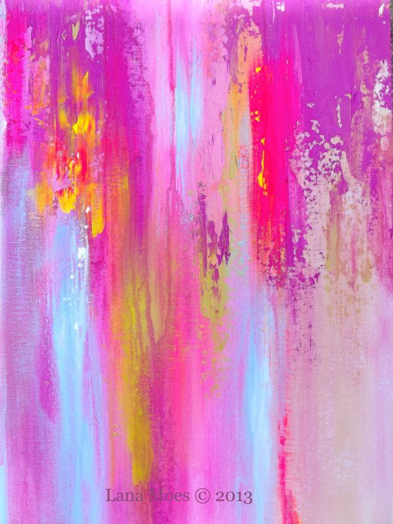 Sunkissed Dreams Abstract Original Painting - Contemporary Art on Canvas Board