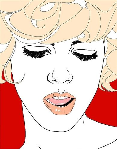 Lady in blonde hair - Fashion illustration by Montana Forbes