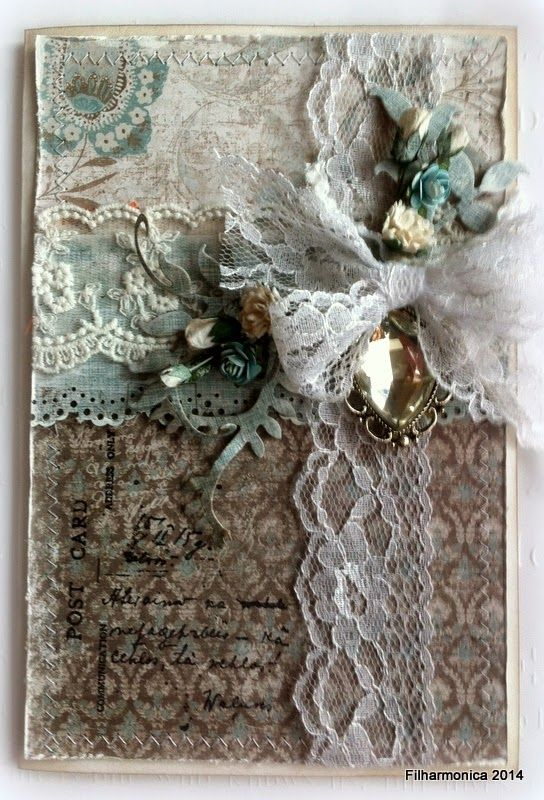 Live & Love Crafts' Inspiration and Challenge Blog: Lace and jewels