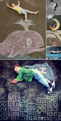 Divertida actividad para el patio del colegio. Dibuja con tizas en el suelo y…