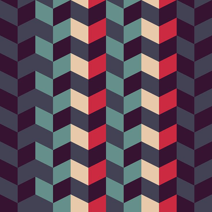 Abstract Retro Geometric Pattern | Abstract art, Canvas ...