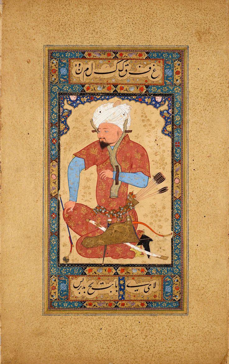 An Uzbek Prisoner | Leaf from the Read Persian Album | Illuminated Manuscript | ca. 1600 | The Morgan Library & Museum