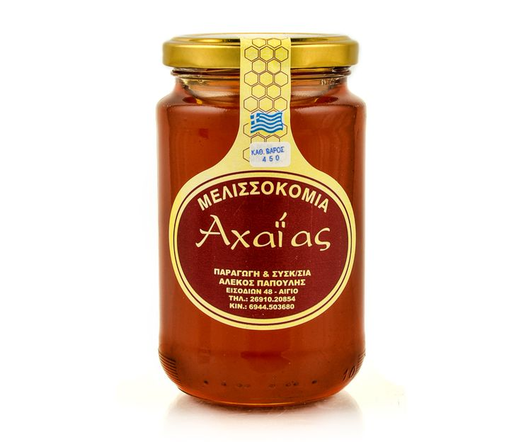 Flower honey from the area of Aigialeia. Has exceptional aroma and flavor and high nutritional value because it is rich in trace elements. Known for its beneficial properties against heart disease, anemia, fatigue and stomach ailments.