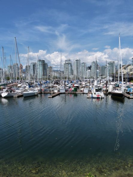 Boats in False Creek, Vancouver  Vancouver is number one of my five favourite places that I will definitely revisit, read my post to find out the rest http://bit.ly/1srMsyn via The World on my Necklace