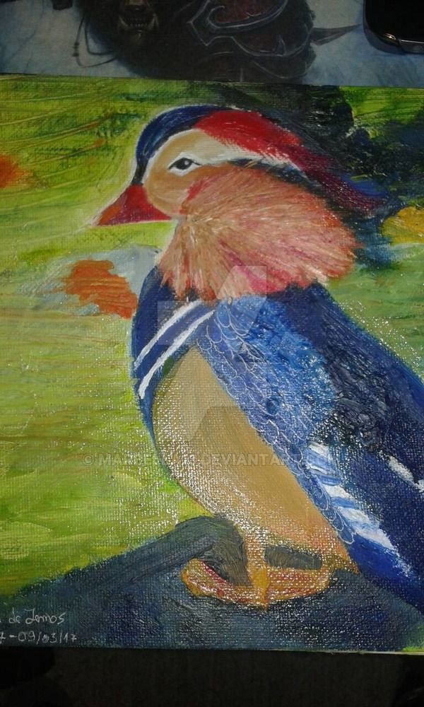 Colourful oil painting