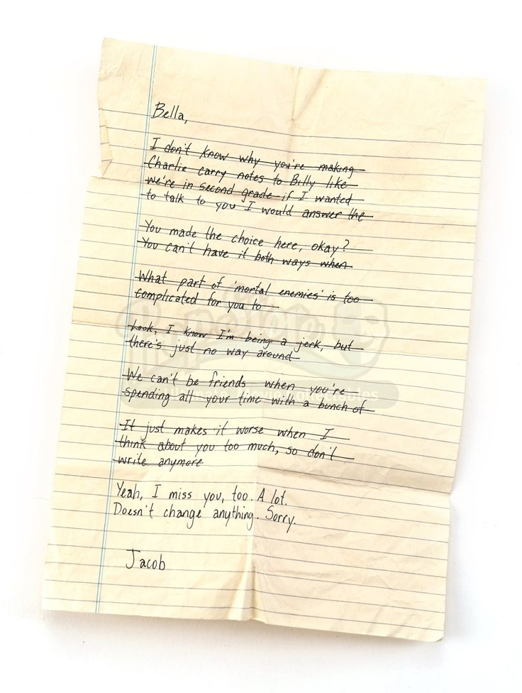 Jacob Black's Letter to Bella - Current price: $600