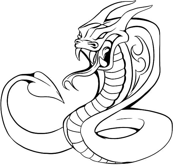 King Cobra Coloring Pages Cobra