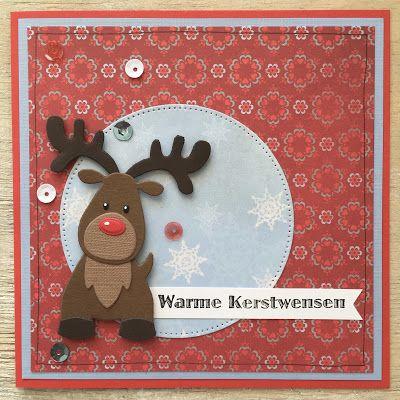 LindaCrea: Kerst 2016 - Rudolph