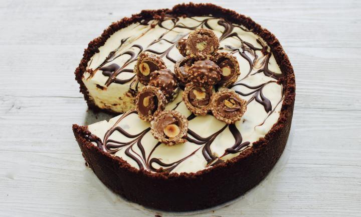 No-bake Ferrero Rocher cheesecake