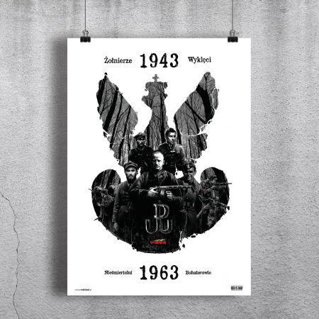 Plakat Żołnierze Wyklęci: Nieśmiertelni Bohaterowie
