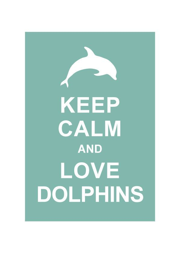 Keep Calm and Love Dolphins : Personalized custom Wedding Birthday Anniversary Gift Children Kids Home Decor - BUY 2 Get 1 Free. $10.80, via Etsy. For sys room