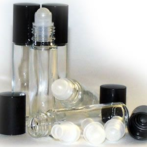 Clear Glass Roller Ball Bottles 10ml