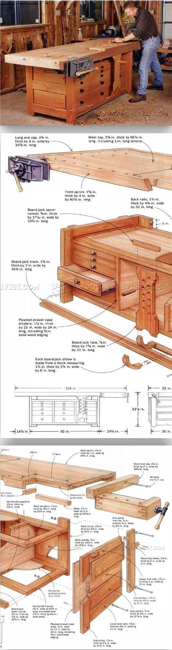 Rock-Solid Workbench Plans - Workshop Solutions Plans, Tips and Tricks | WoodArchivist.com