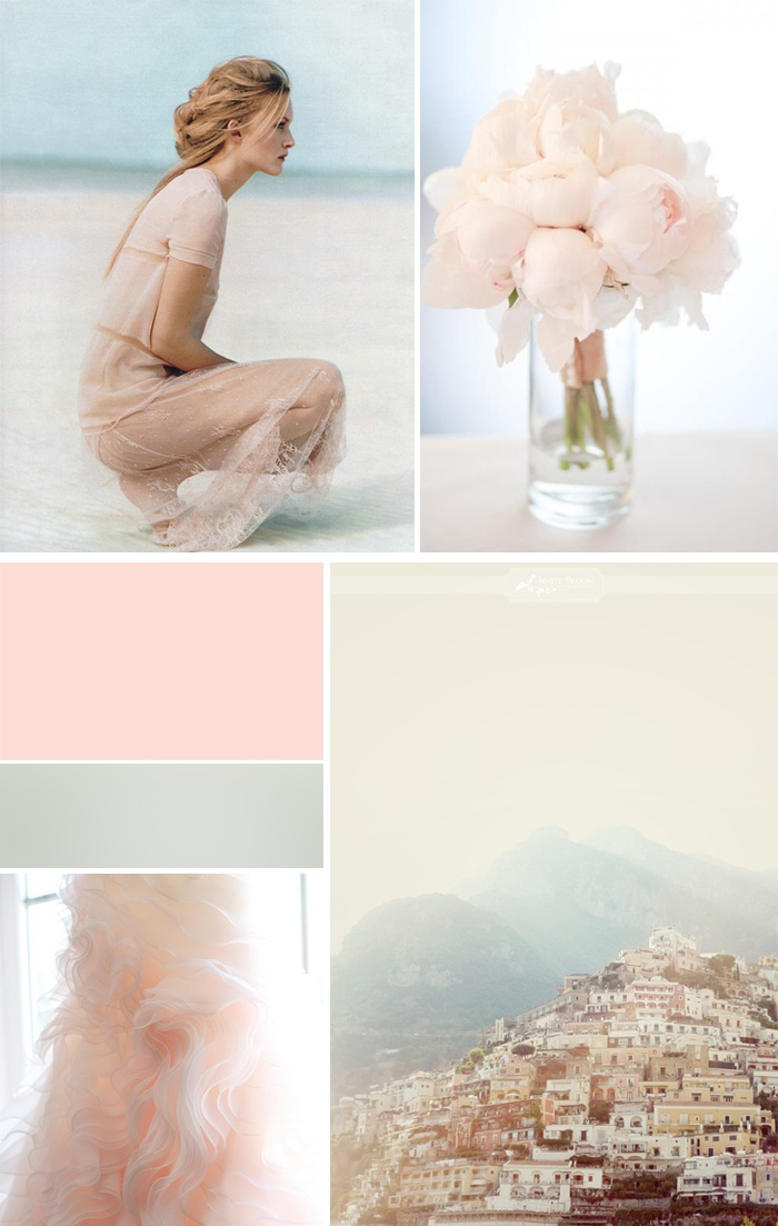 Moodboard: Blush & Co -- her hair! love the colors too