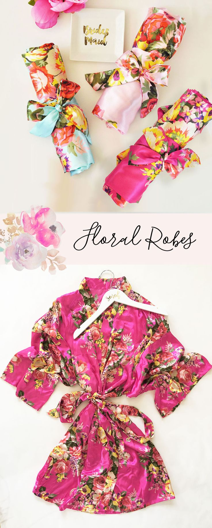 Floral Robe | Bridesmaid Gift Ideas | Floral Bridesmaid Robe | Floral Print