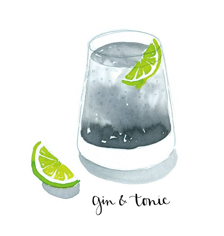 gin and tonic illustrative - Google Search