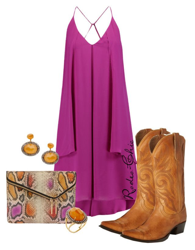 """""""Wild Irish Rose"""" by rodeo-chic ❤ liked on Polyvore featuring Rebecca Minkoff, Vianna B.R.A.S.I.L, Henri Bendel, Old Gringo and country"""