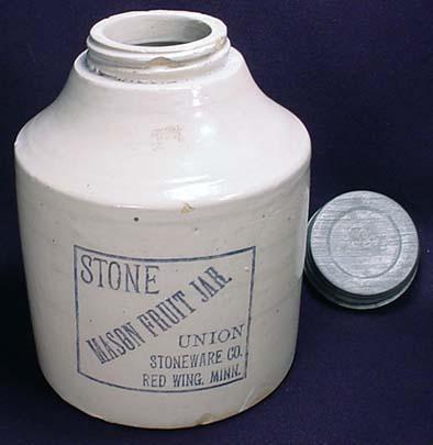 Red Wing Stoneware Mason Fruit Jar