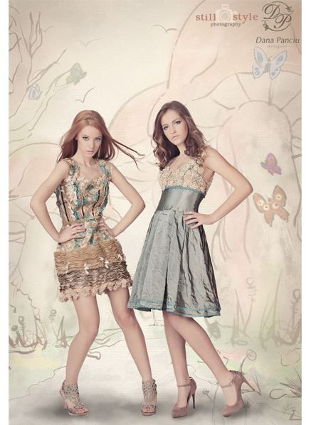 "Bianca & Iulia – for Dana Panciu "" Whisper of spring "" , colectie capsula 2012"