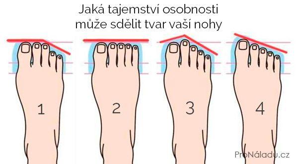 Jaká tajemství osobnosti může sdělit tvar vaší nohy