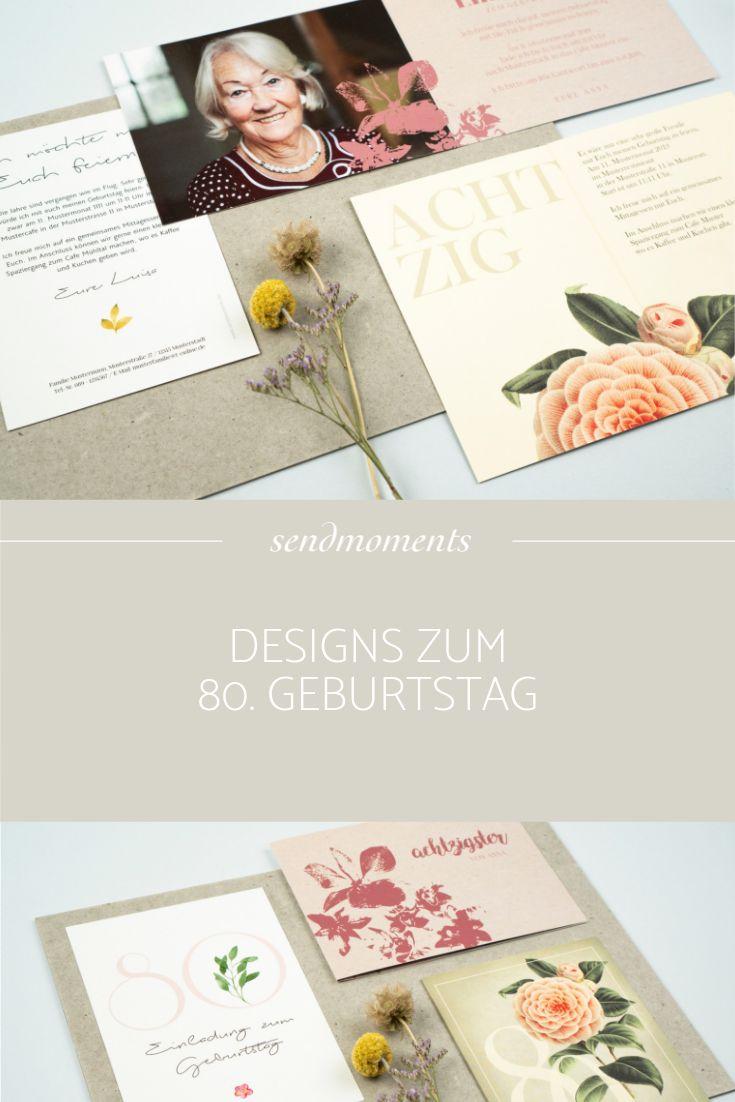 Floral Designs zum 80. Geburtstag