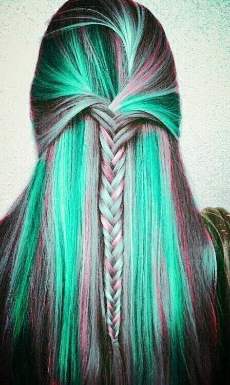 green hair colors ideas