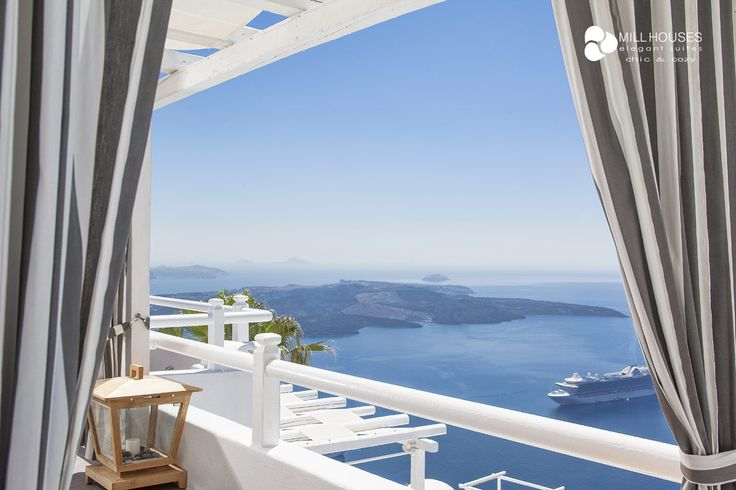 Overlooking the marvel of Greek summer from the best spot on the island of Santorini. Priceless! More at millhouses.gr