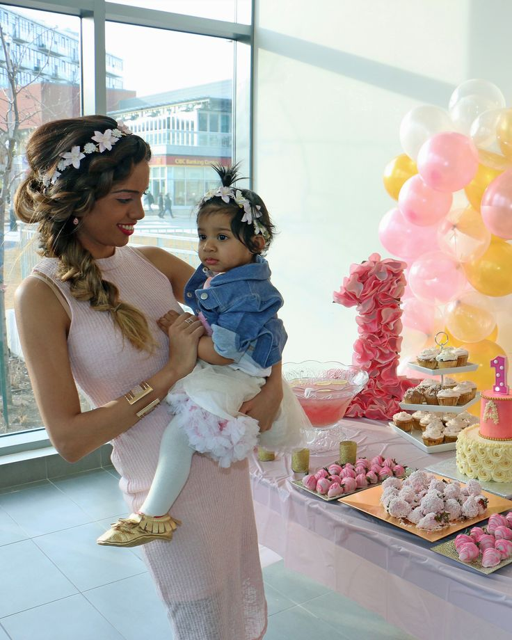 Boho Chic Pink and Gold First Birthday