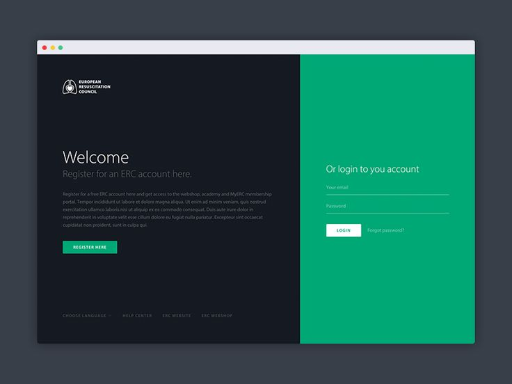 Well thought out login page with product introduction